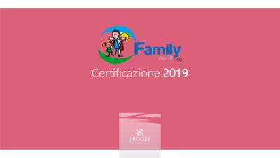 Family Audit Certificazione 2019, Io Sono Socio Proges. Immagine brochure.